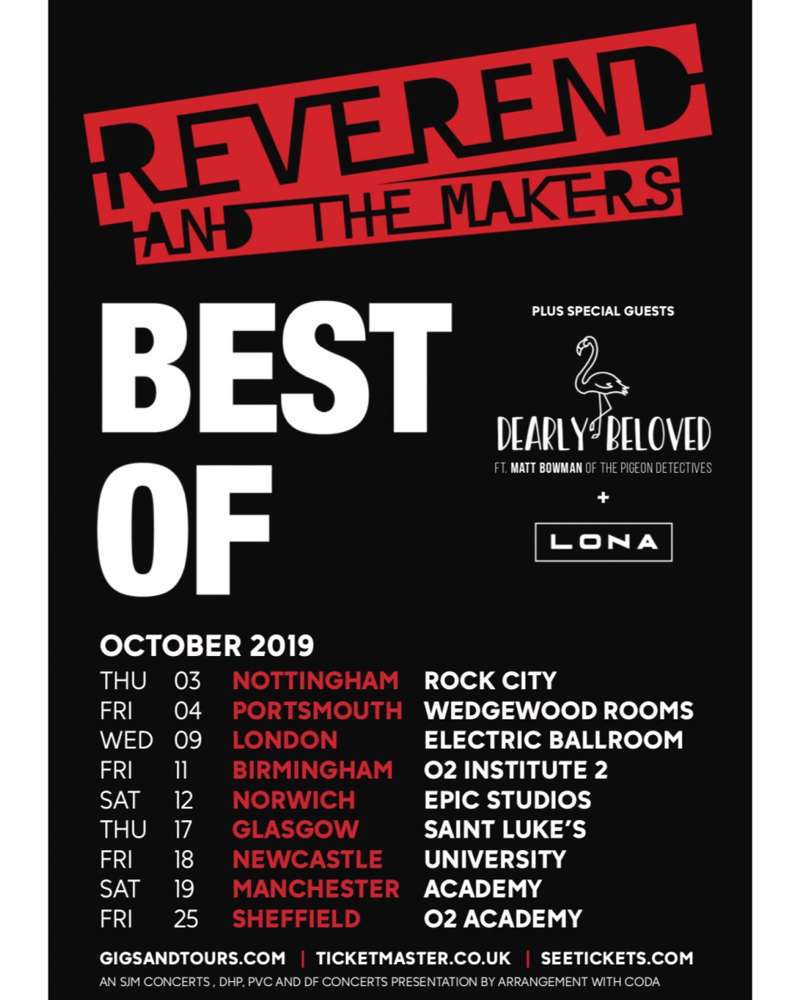 Reverend And The Makers Tour at Epic TV Studios, Norwich on 12 Oct 2019
