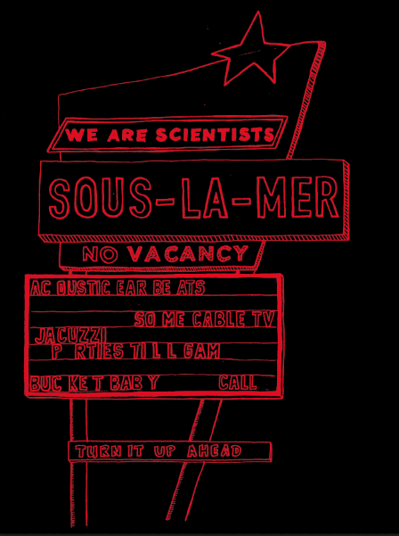 SOUS-LA-MER poster - We Are Scientists