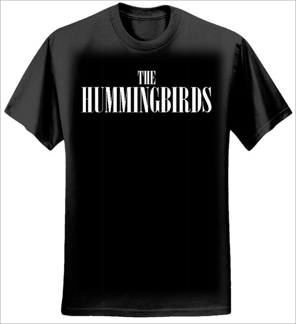 Black T-shirt - The Hummingbirds