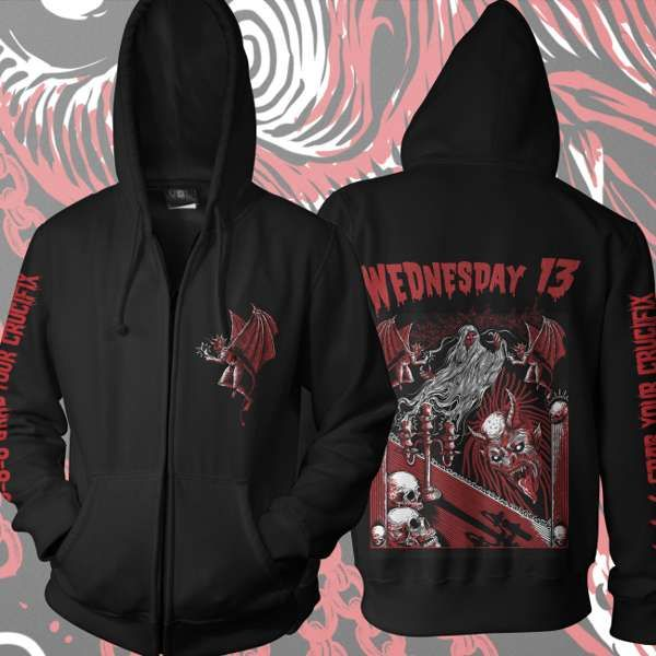 Wednesday 13 - 'Candle For The Devil' Zip Hoody - Wednesday13 US