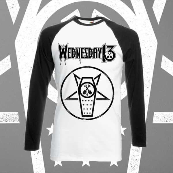 Wednesday 13 - 'Casket' Baseball Shirt - Wednesday13 US