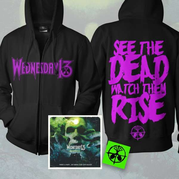 Wednesday13 - 'Necrophaze' CD & Hoody Bundle + FREE STICKER - Wednesday13