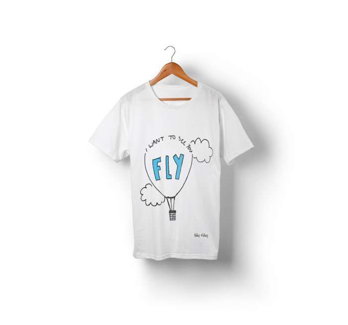 I Wana See You Fly T-Shirt - We're Not Just Cats Records