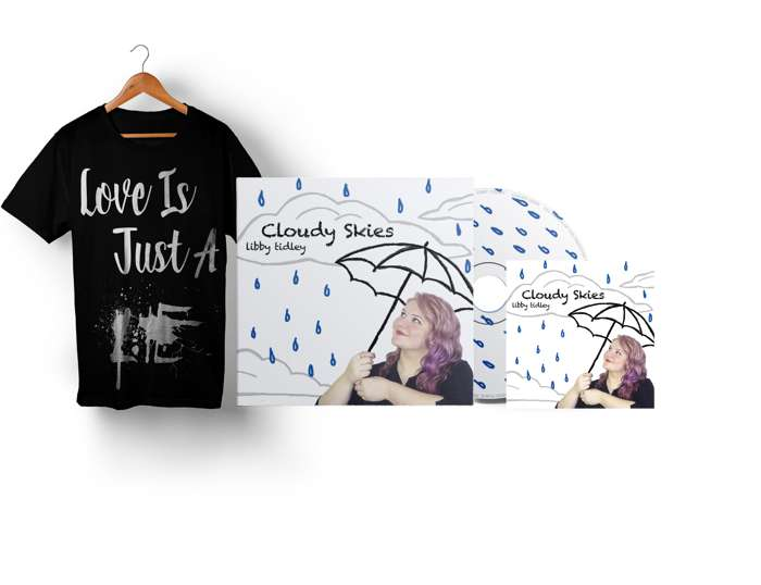 Love Is Just A Lie T-Shirt + Cloudy Skies EP (CD +  DIGITAL) - We're Not Just Cats Records