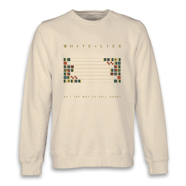 As I Try Not To Fall Apart - Cream Crewneck Sweater (Shipped in December) - White Lies
