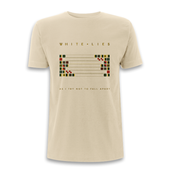 As I Try Not To Fall Apart - Cream T-shirt (Shipped in December) - White Lies