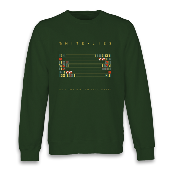 As I Try Not To Fall Apart - Green Crewneck Sweater (Shipped in December) - White Lies