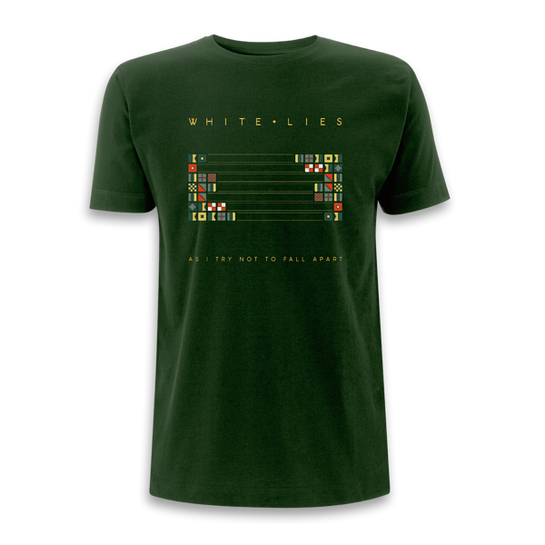 As I Try Not To Fall Apart - Green T-shirt (Shipped in December) - White Lies