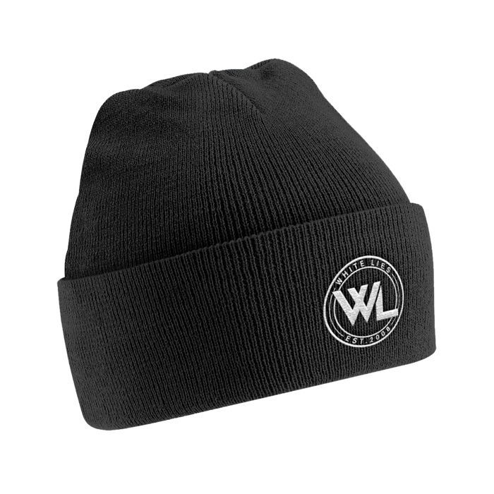 Football Logo Beanie - Black - White Lies