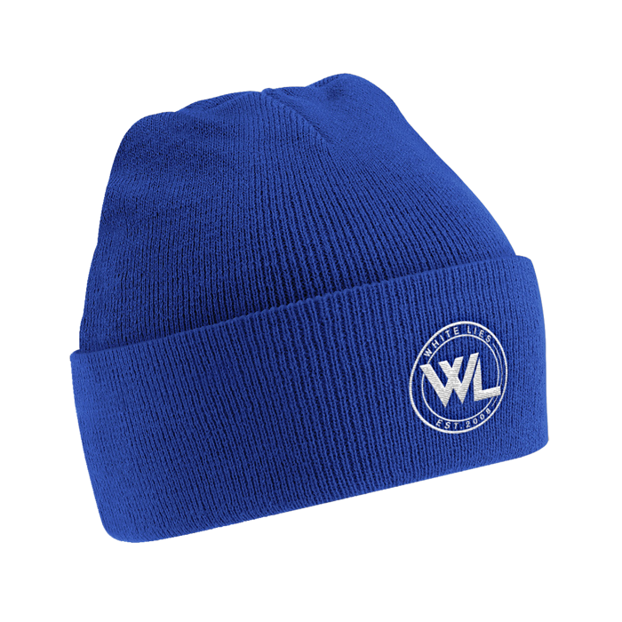 Football Logo Beanie - Blue - White Lies