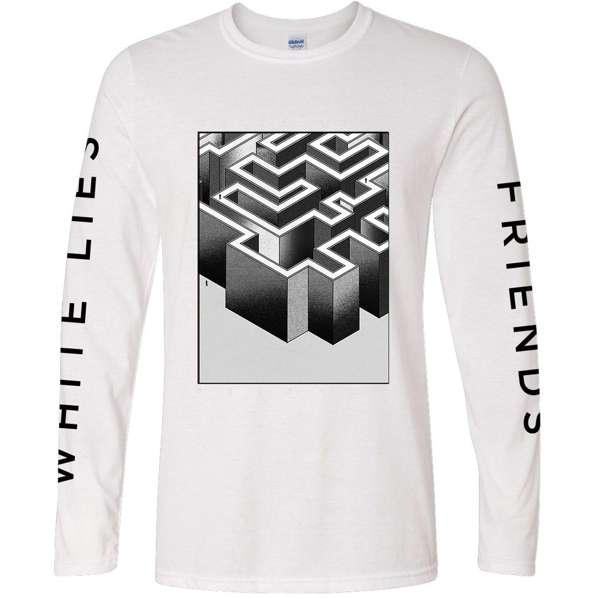 'Friends' Longsleeve White T-Shirt - White Lies