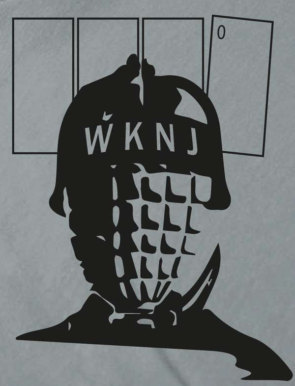 WKNJ grenade tee - men's and women's styles - organic and sustainable - Who Killed Nancy Johnson?