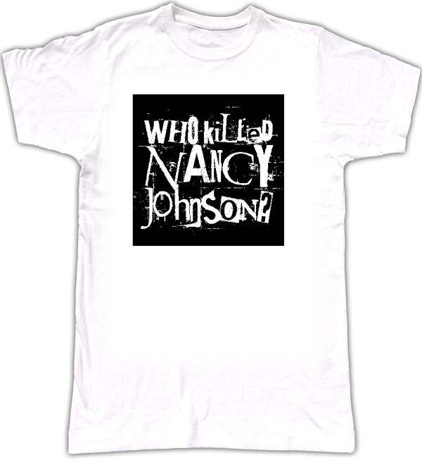 WKNJ? men's logo T-shirt style 2 - Who Killed Nancy Johnson?