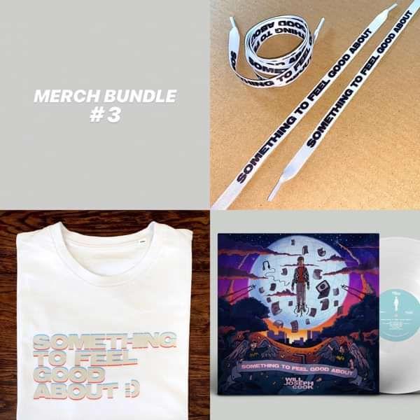 Bundle #3 (Signed LP + Tshirt + Shoelaces) - Will Joseph Cook