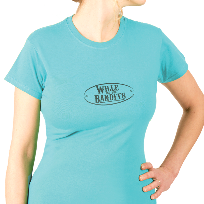 Ladies Retro T- shirt - Wille and the Bandits