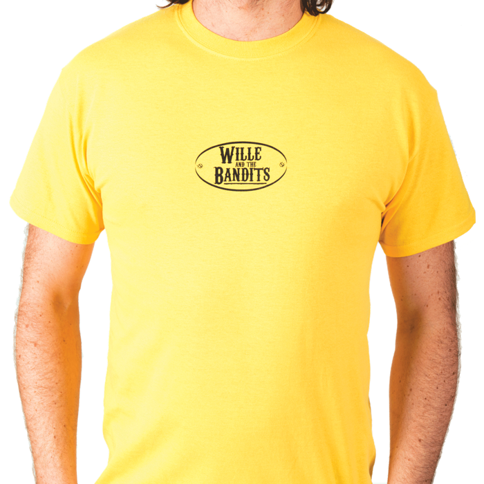 Yellow Mens Retro T-shirt - Wille and the Bandits