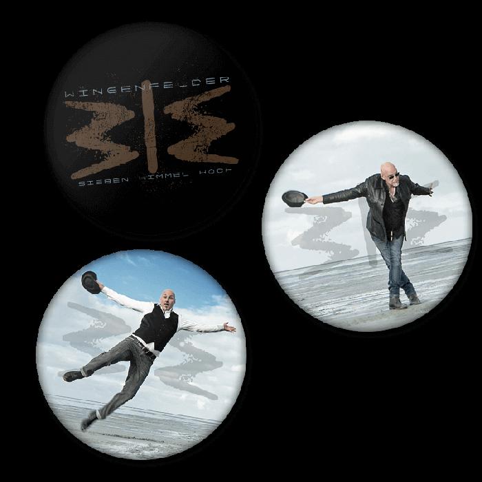 Button Set - Sieben Himmel hoch Tour - 3 Stück - Wingenfelder