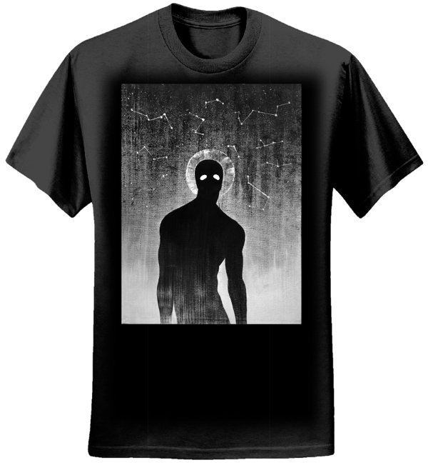 ConstellationFace Mens Black T-shirt - Witchingseason