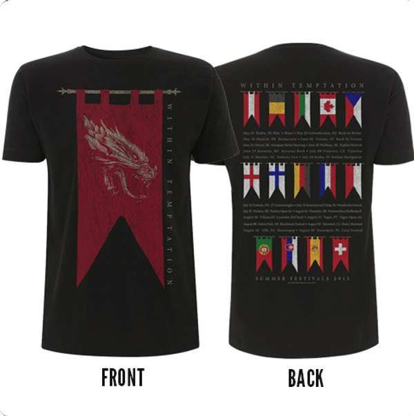 Flag Tour 2015 Tee - Within Temptation