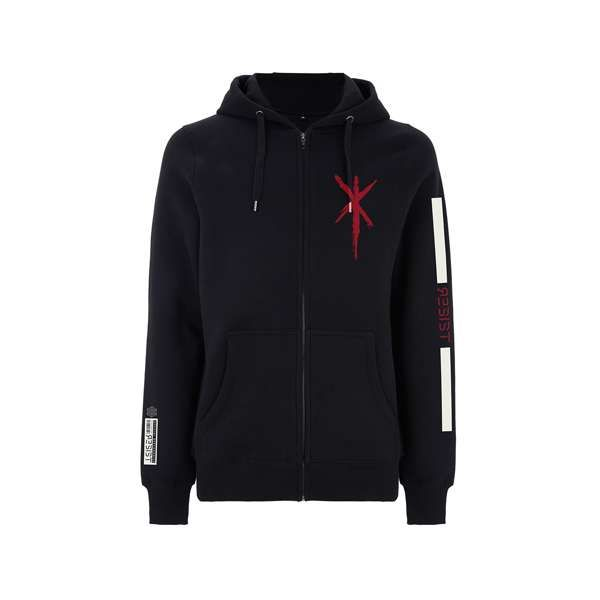 Red Dragonfly - Black Zip Hood - Within Temptation