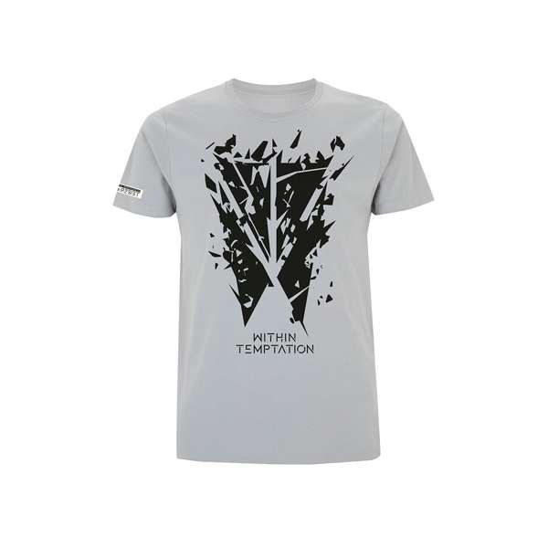 Shattered Logo - Sports Grey Tee - Within Temptation