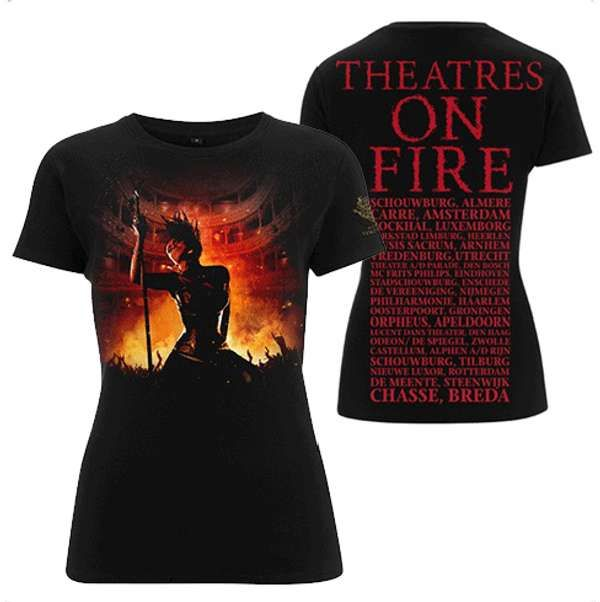 Theatres On Fire Tour Girls T Shirt - Within Temptation
