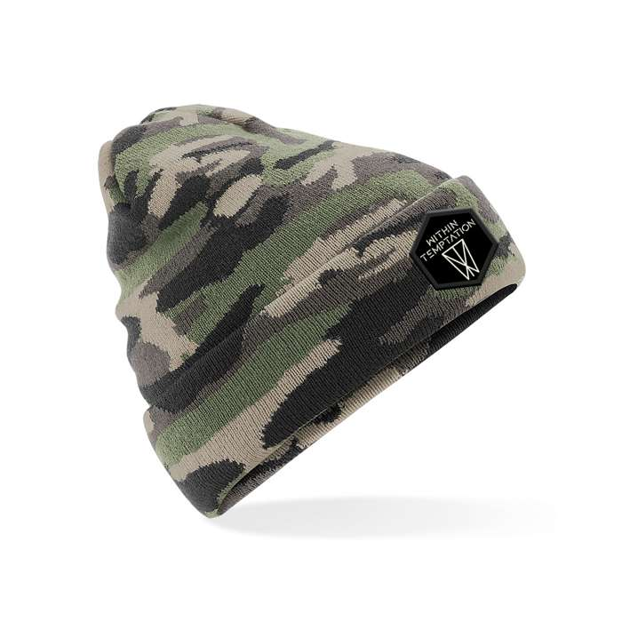 Unity Patch - Jungle Camo Beanie - Within Temptation