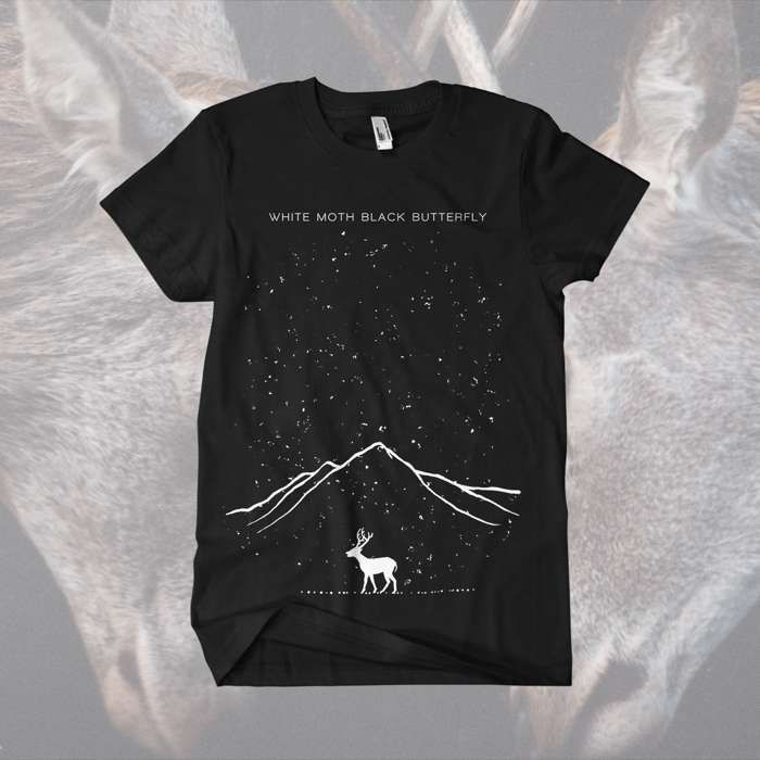 White Moth Black Butterfly - 'Mountains' T-Shirt - White Moth Black Butterfly