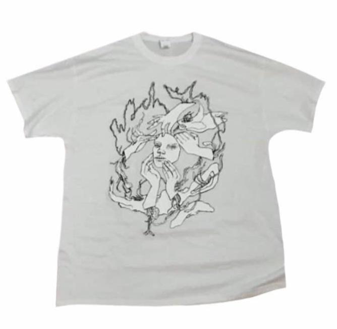 wych elm T-Shirt in White - wych elm