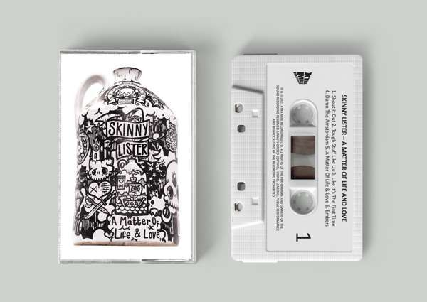 Cassette - 'A Matter Of Life & Love' by Skinny Lister - Xtra Mile Recordings