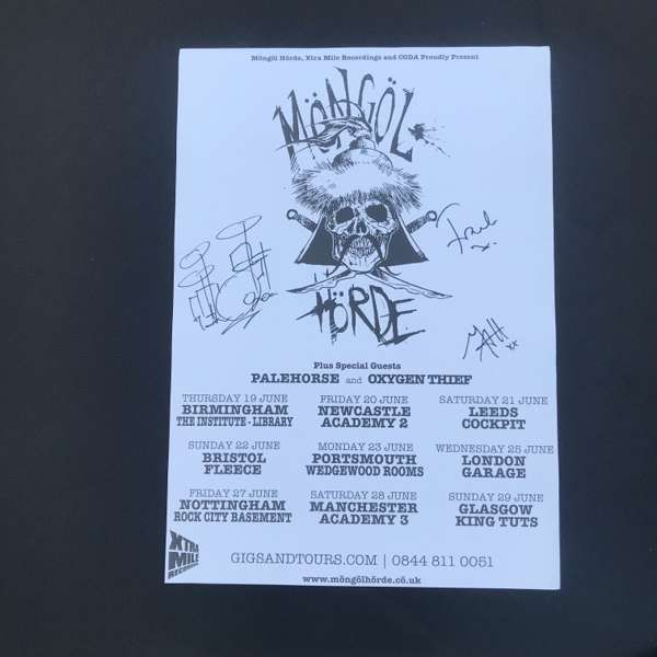 Möngöl Hörde -signed tour print - Xtra Mile Recordings