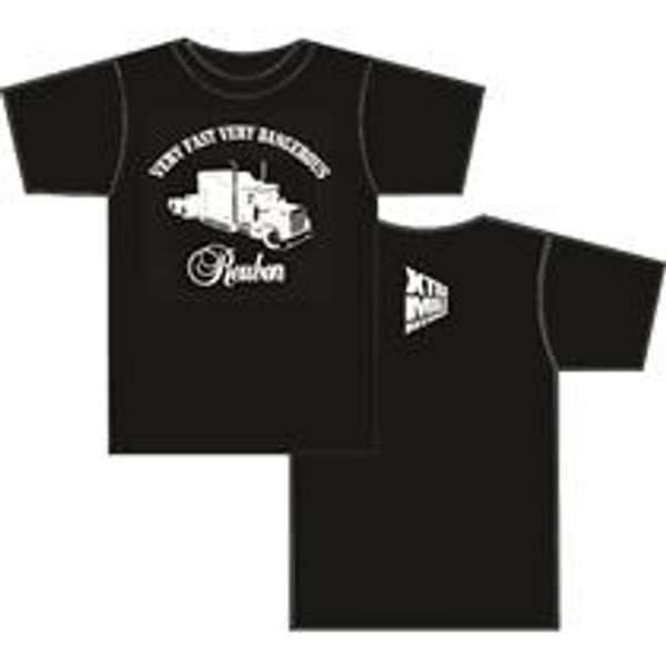 Reuben - 'Very Fast, Very Dangerous' t-shirt - Xtra Mile Recordings