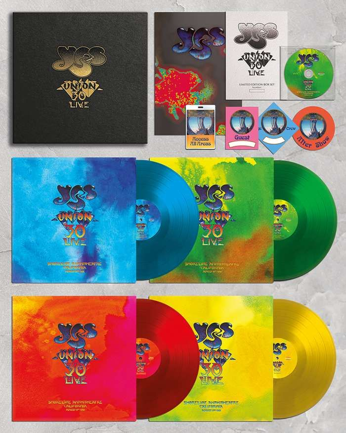 Yes - Union 30 4 x Vinyl Disc Box Set all Recorded at Shoreline Amphitheatre in California1991. Mixed by Trevor Rabin - Yes - Union 30