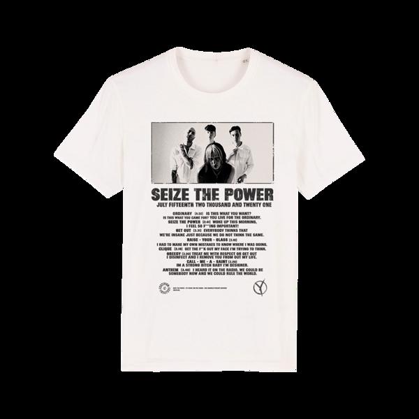 Yonaka Seize The Power T-Shirt White - Yonaka