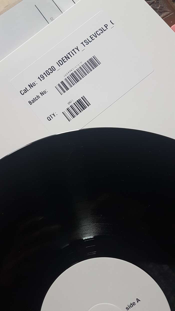 Signed Identity Vinyl Test Pressings - Richard Wright & Dave Harris - Zee