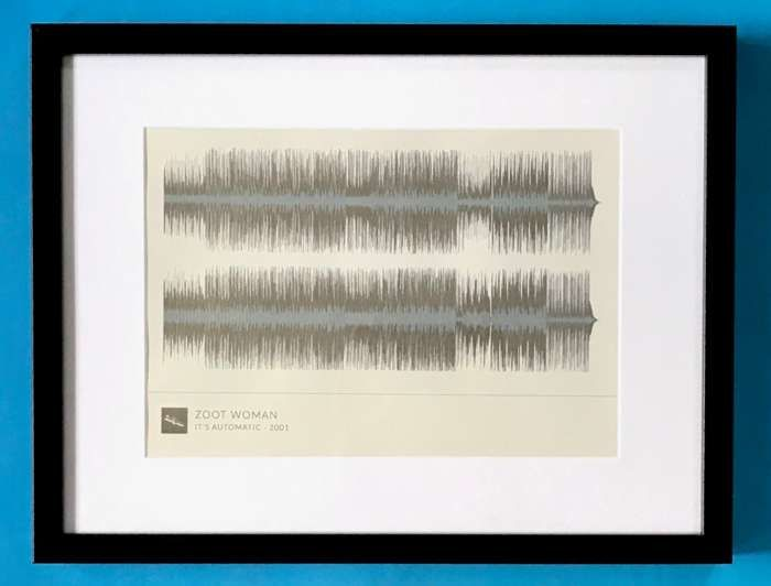 'It's Automatic' Framed Waveform Artwork (BLACK FRAME) - Zoot Woman