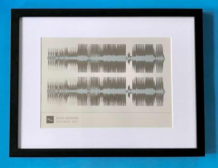 'Solid Gold' Framed Waveform Artwork (BLACK FRAME) - Zoot Woman